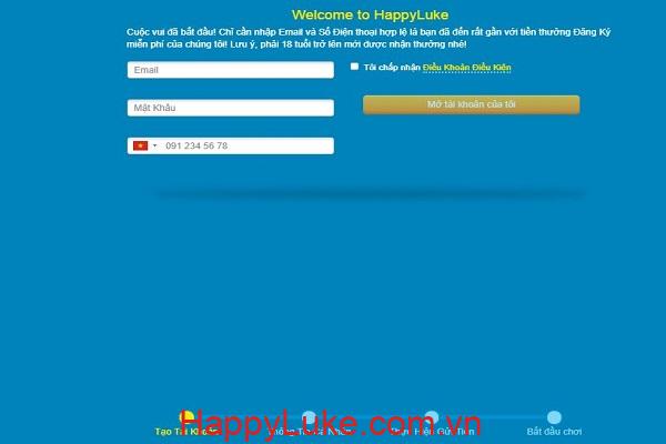 đăng ký HappyLuke